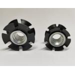 Star Type Plate Insert Threaded Nut / Carbon Steel External Teeth Nut 8.8 Grade for sale