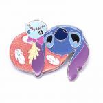 Lovely Apple Shape Hard Soft Enamel Glitter Lapel Pin Badges Customized Size for sale