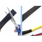 Cable Wire Cover Protection Expandable Wire Sleeving , Braided Wire Loom Custom for sale