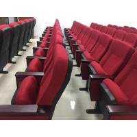 China PP Back And Seat Auditorium Church Lecture Hall Chairs With Folded Writing Tablet for sale