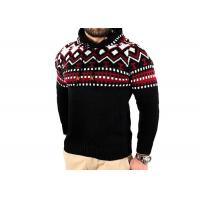 China Elegant Jacquard Funny Xmas Sweaters , Tacky Christmas Clothes Hoodie For Men for sale