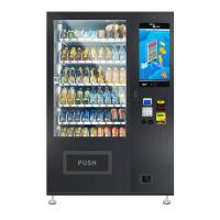 China Metal Frame Snack And Drink Machine , Food Vending Machines 337-662kg Capacity for sale