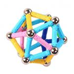 Simple Creative Magnetic Sticks With Steel Ball Magnetic Blocks Magnetic Bar Toys for sale