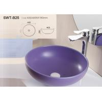 Sanitary Ware Self Cleaning Color Art Wash Basin With Solid Surface Round Shape for sale