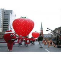 Advertising Inflatables Strawberry Character Balloon Giant Fruits Flying Ball for sale