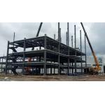 High Multi Storey Prefabricated Steel Structure Building Galvanised / Painted Surface