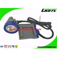 6.6Ah Rechargeable Li - ion Battery LED Mining Cap Lights with 16hrs Long Lighting Time for sale