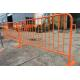 China Orange Portable Crowd Control Barriers Security Temporary Road Barriers for sale