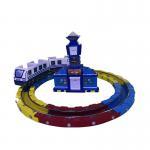 China Track Railway Train Amusement Arcade Machines  / Kids Amusement Ride for sale