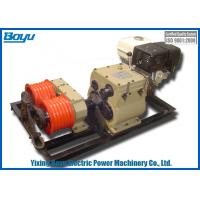 Weight 195kg Groove Number 6 Dual-bull Wheel Cable Stringing Equipment Diesel Powered Winch