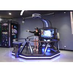 Free Walk Virtual Reality Standing Shooting Game Machine With 360 Degree Rotation