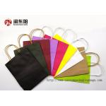 colorful paper bag with handle for packing gift from guangdong factory for sale