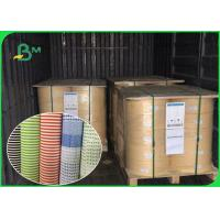 China Biodegradable Food Grade Printed Straw Paper Roll Stripe Color / Customized Color for sale
