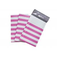 Pink Strip Poly Bubble Mailers , Customized Decorative Poly Mailing Bags for sale