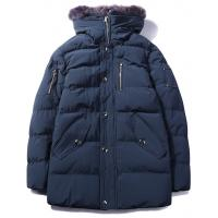 Men's parka heavy padding jacket  with Removable Faux Fur Trimmed Hood for sale