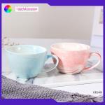 Marble Glaze Glazed Ceramic Coffee Mugs 140ml Small Volume Taobleware Cup Sets for sale