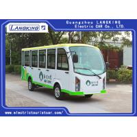 China Closed Electric Sightseeing Car With 14 Seaters toplight / dry Battery  electric shuttle bus 72V AC motor for sale