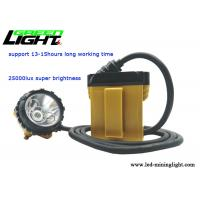 High power quality yellow body safety cap lamp 25000lux With 4 Samsung rechargeable lithium batteries for sale