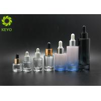 China Foundation Liquid Serum Cosmetic Glass Packaging 30ml 50ml White Color Thick Bottom supplier