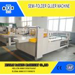 China Semi Automatic Paper Folding Machine / Gluing Machine With 260mm Min Feeding Size for sale