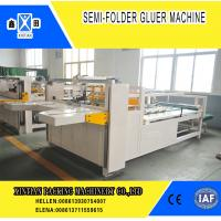 Semi Automatic Paper Folding Machine / Gluing Machine With 260mm Min Feeding Size for sale