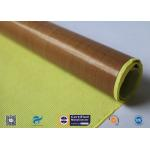 China 0.13mm Self - Adhesive Tape Brown PTFE Coated Fiberglass Fabric for sale