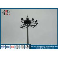 Conical High Mast Light Pole Q345 ISO9001 Hot Dip Galvanised Light Pole for sale
