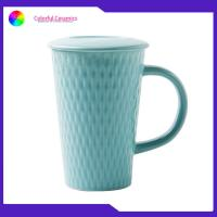 Ceramic cup tall coffee mugs V mug ceramic coffee mug with lid Custom Embossed Mugs for sale
