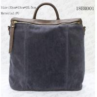 Fake Suede & PU Backpack School Bags For Men With Secret Pocket , Customized Logo for sale