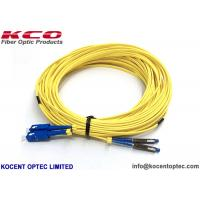 Low Insertion Loss Fibre Optic Patch Cable MU SM DX 2.0mm G657A1 LSZH Yellow Color for sale