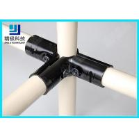 3 way Flexible Metal Pipe Joints Black Electrophoresis For Pipe Rack System for sale