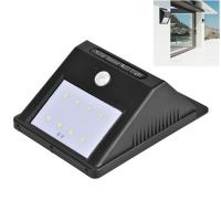 Security Outdoor Lighting Solar Powered Backyard Lights , 8 LEDs Garden Wall Solar Lights for sale
