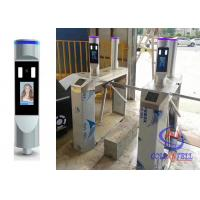 Workplace Entry Tripod Turnstile Gate Non Contact Face Recognition With Body Temperature Measure