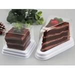 9.5cm Bakery Cake Sandwich PET Plastic Triangle Box for sale