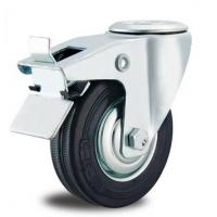 China 8 inch rubber industrial trolley wheels for sale