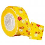 3 Colors Printed Flower Yellow Grosgrain Ribbon for Cake Boxes Wrapping for sale
