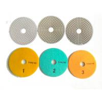 China White 3 Steps 4 Inch Wet Diamond Polishing Pads For Stone / Marble for sale