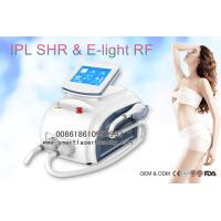 China Dual Handles OPT SHR IPL Hair Removal Machine , Portable 3 In 1 Elight IPL Beauty Device for sale